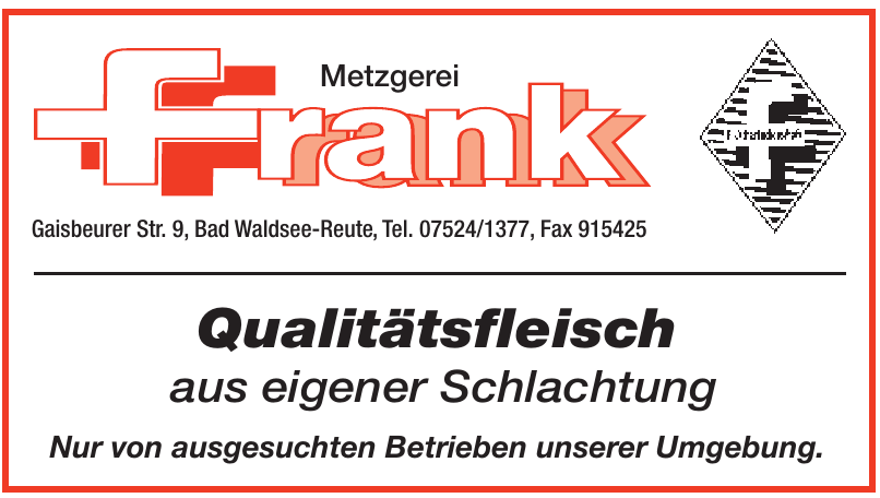 Metzgerei Frank