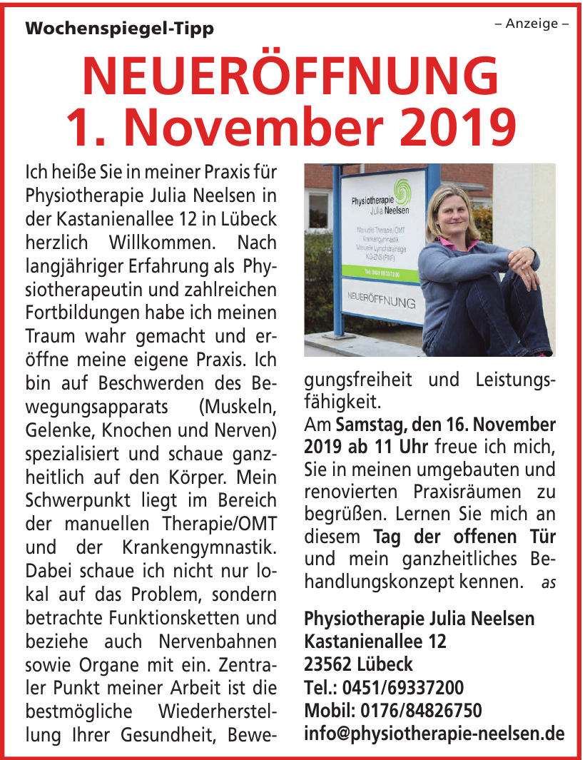 Physiotherapie Julia Neelsen