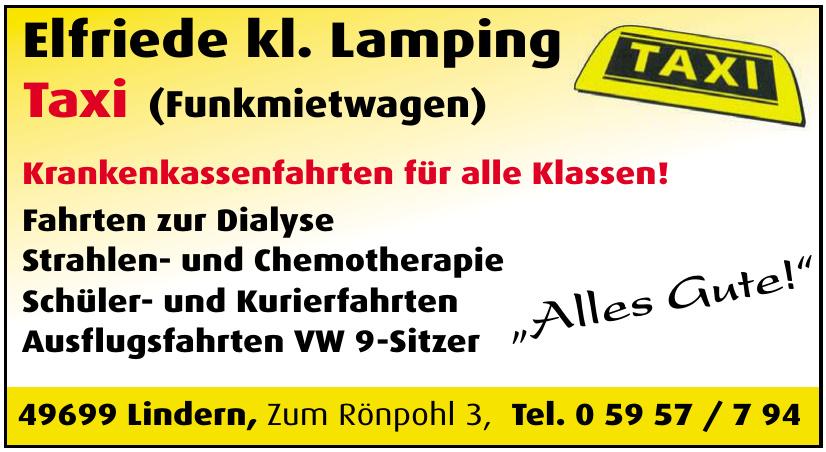 Elfriede kl. Lamping Taxi