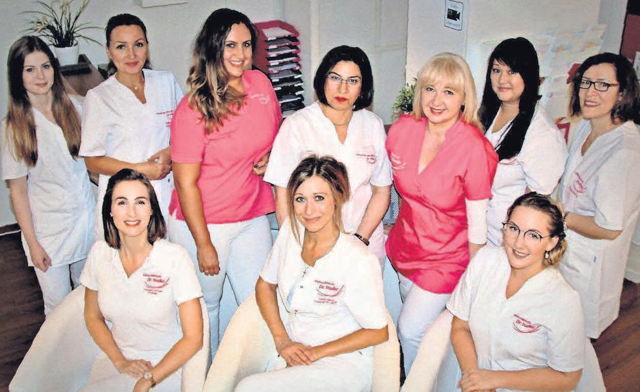 Das Podologie- und Kosmetikteam von Dr. Stedler.
