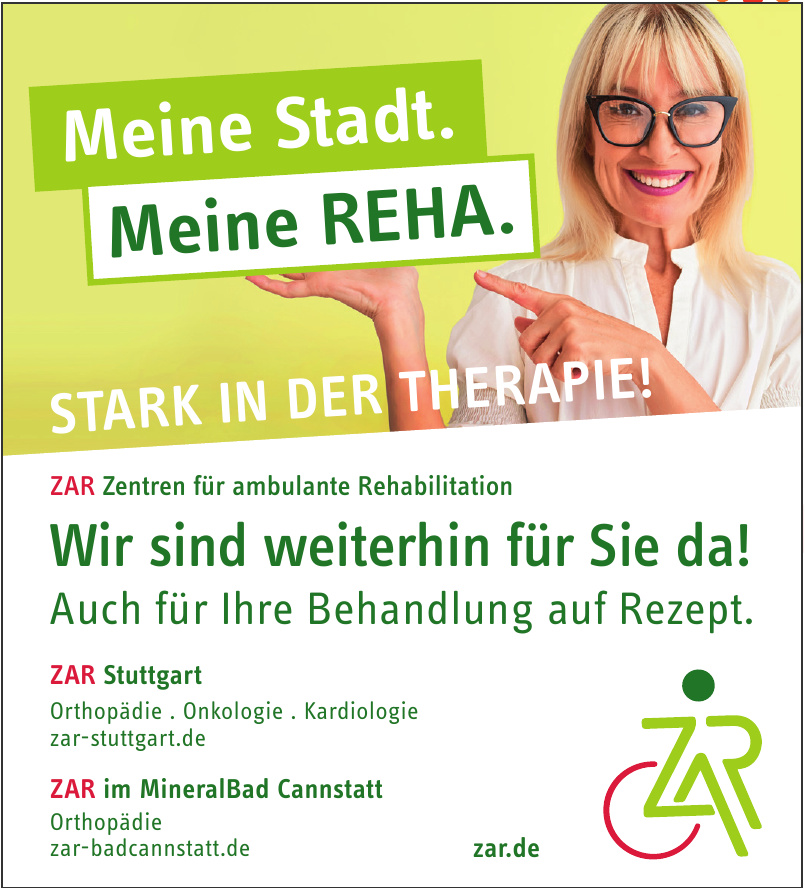 ZAR Zentren für ambulante Rehabilitation