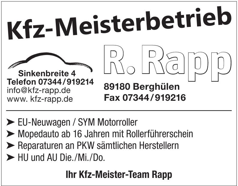 Kfz-Meisterbetrieb R. Rapp