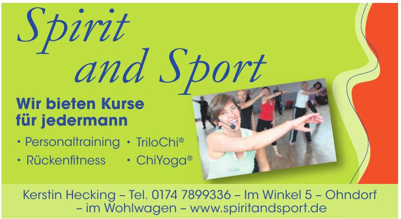 Spirit and Sport