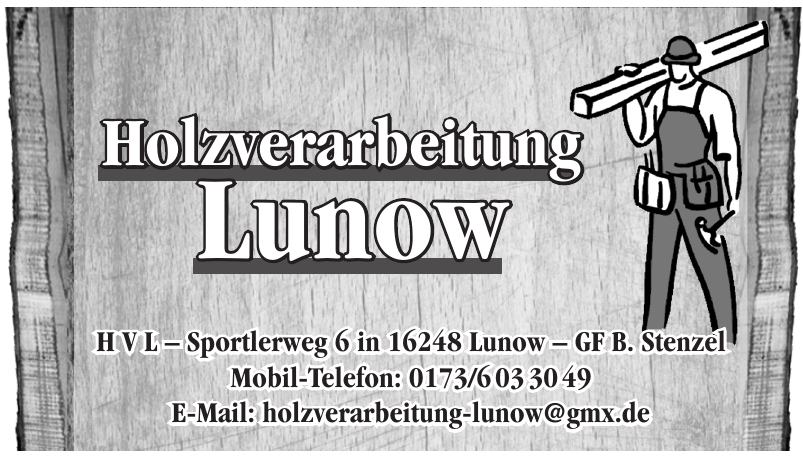 Holzverarbeitung Lunow