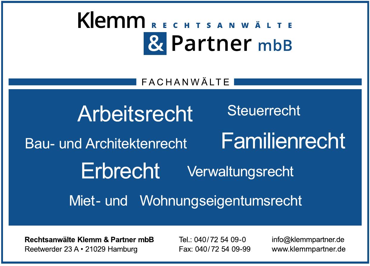 Rechtsanwälte Klemm & Partner mbB