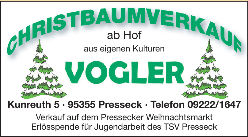 Christbaumverkauf Vogler