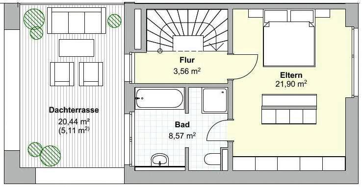 Haustyp A Grundiss Dachgeschoss