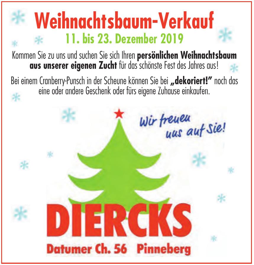 Diercks - Weihnachtsbaum-Verkauf