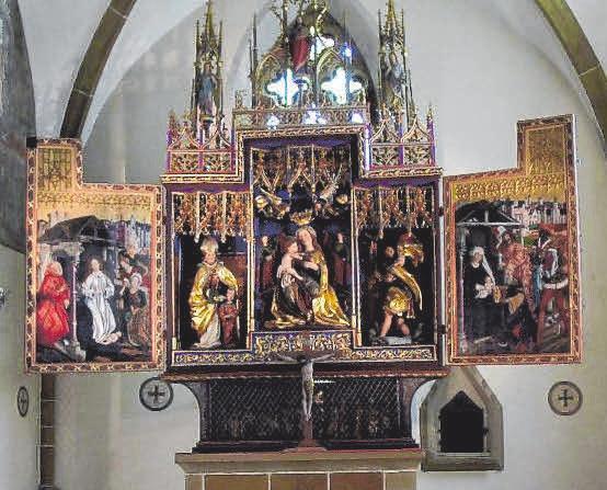 Flügelaltar der Stadtkirche St. Blasius FOTO: STADT BOPFINGEN
