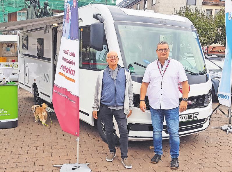 Das Reisemobil Weinsberg CaraCore 700 MEG am Stand von Hüttl Caravaning aus Maintal.