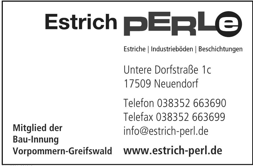 Estrich Perl