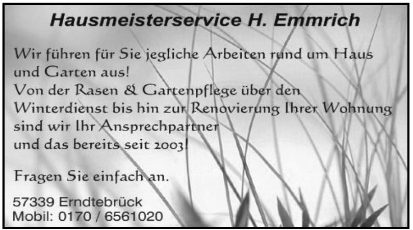 Hausmeisterservice H. Emmrich