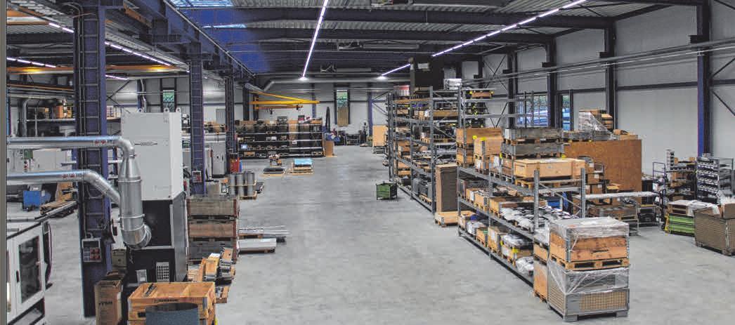 In der Produktionshalle werden Teile aus Stahl, Edelstahl, Aluminium und Blech gefertigt. FOTOS: VIBE