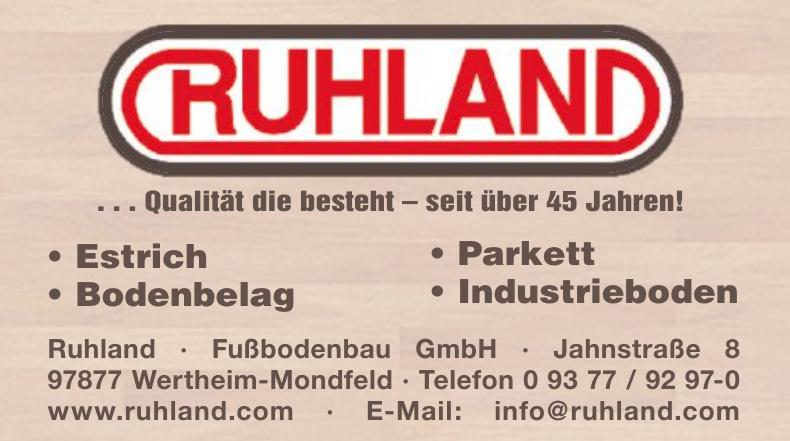 Ruhland · Fußbodenbau GmbH