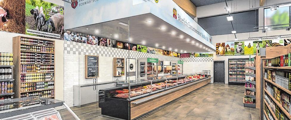 Eine großzügige Fleisch-, Wurst und Käsetheke ist der Blickfang im neuen Regio-Markt Kirchberg