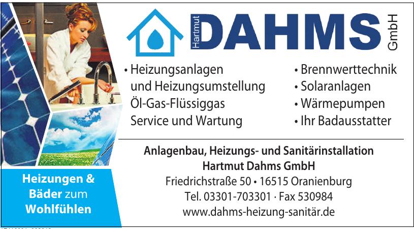 Anlagenbau, Heizungs- und Sanitärinstallation Hartmut Dahms GmbH