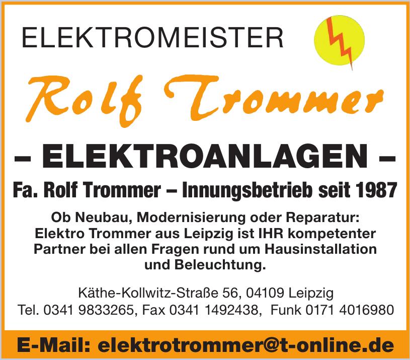 Elektromeister Rolf Trommer