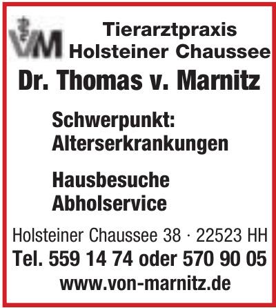 Tierarztpraxis Holsteiner Chaussee Dr. Thomas v. Marnitz