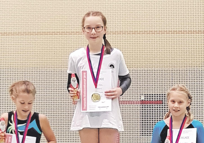 """Ehrgeizige Kämpferin: Emily Kühn """"sprang"""" beim Kreiswettkampf direkt auf den ersten Platz."""