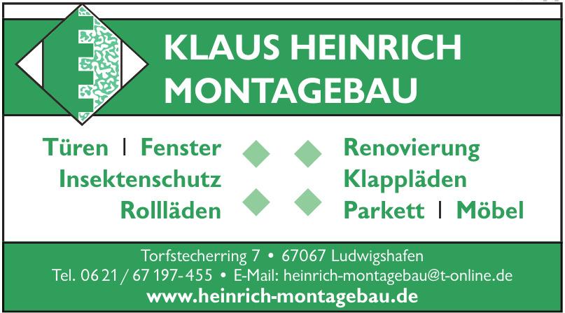 Klaus Heinrich Montagebau