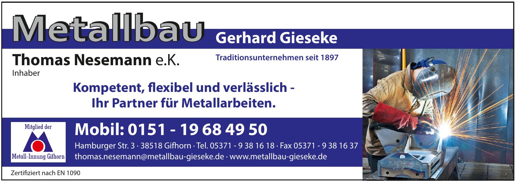 Metallbau Gerhard Gieseke