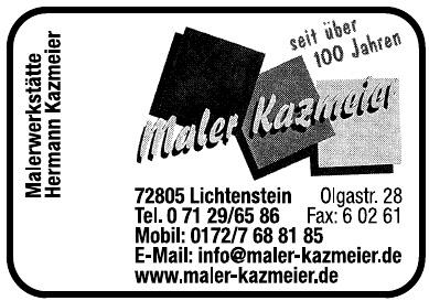 Maler Kazmeier