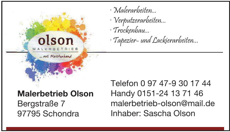 Malerbetrieb Olson