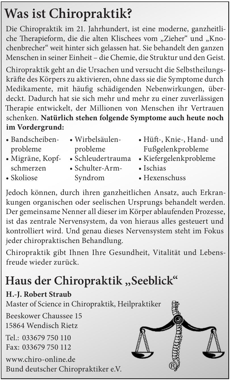 """Haus der Chiropraktik ,,Seeblick"""""""