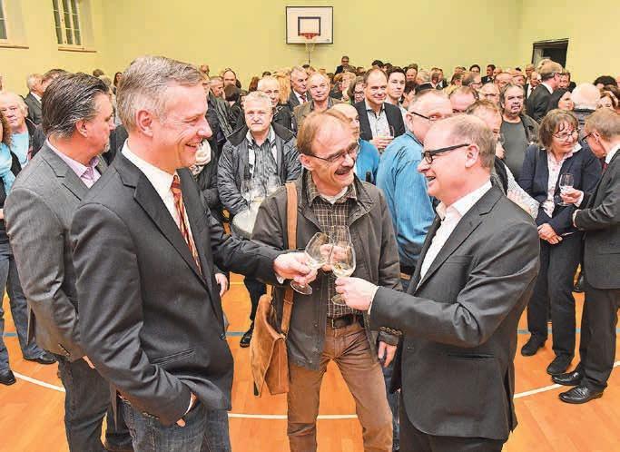 Andreas Schibli (FDP, Olten, links) tritt nicht mehr an, Urs Huber (SP, Obergösgen) wohl zum letzten Mal. Bild: Bruno Kissling/Archiv