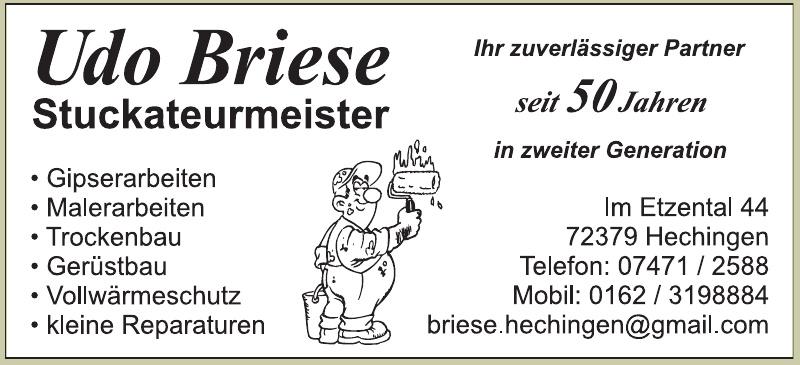 Udo Briese Stuckateurmeister