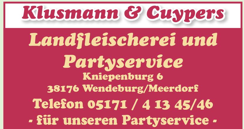 Klusmann & Cuypers Landfleischerei und Partyservice