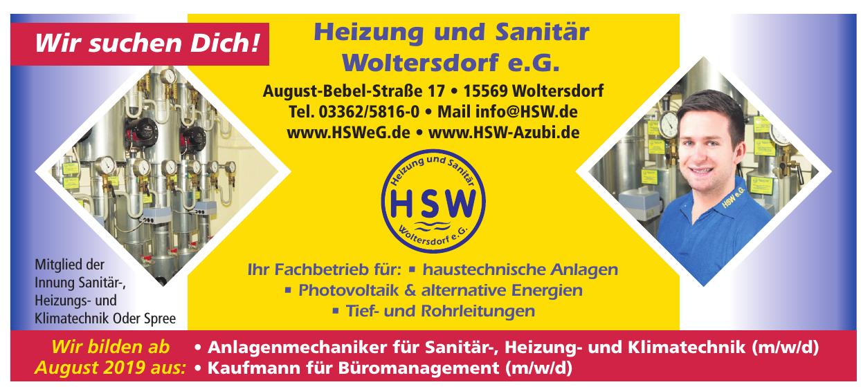 Heizung und Sanitär Woltersdorf e.G.