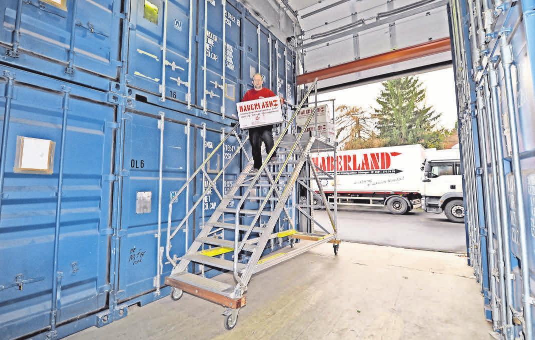 Haberland bietet Möglichkeiten zum sicheren Unterbringen von Möbeln und Einrichtungen über einen flexiblen Zeitraum.. MARKUS HARTWIG