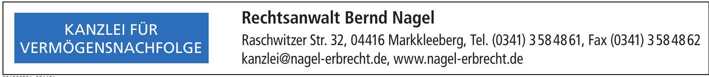 Rechtsanwalt Bernd Nagel