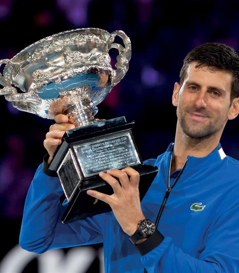 Novak Djokovic führt die Win/Loss Rangliste gegen Roger Federer und Rafael Nadal an. Foto: Jürgen Hasenkopf