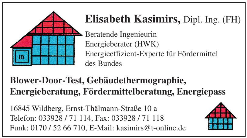 Elisabeth Kasimirs, Dipl. Ing. (FH)