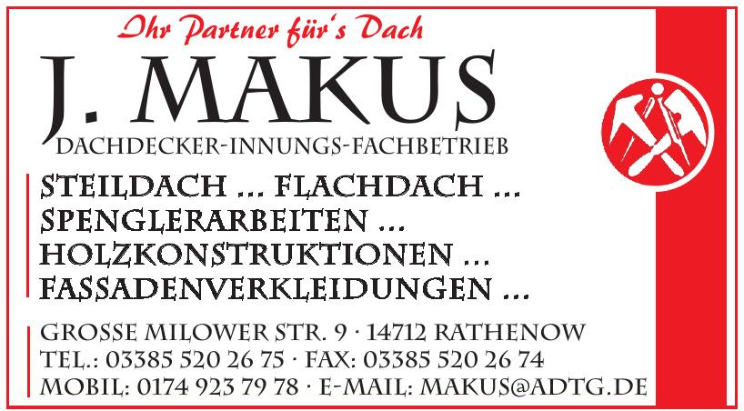 J. Makus Dachdecker-Innungs-Fachbetrieb