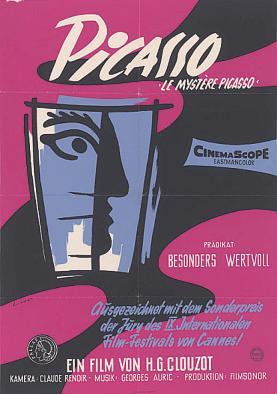 Plakat für H.G. Clouzots Film Le Mystère Picasso, 1956 Foto: HAStK, Best. 1475, Pl