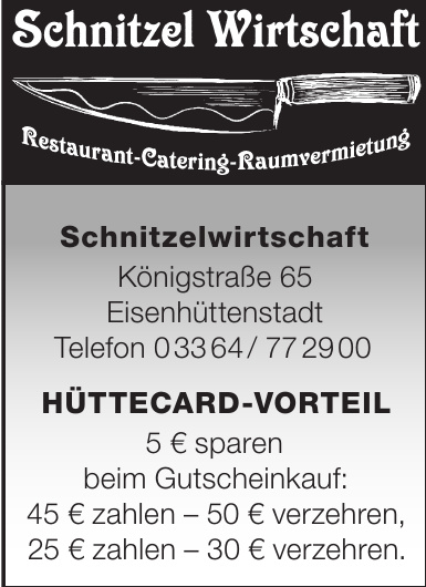 Schnitzelwirtschaft