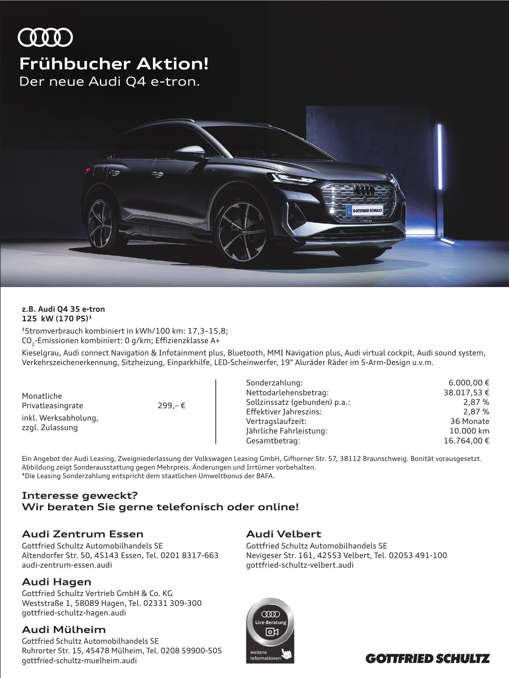 Audi Zentrum Essen Gottfried Schultz Automobilhandels SE