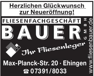 Fliesenfachgeschäft Bauer GmbH