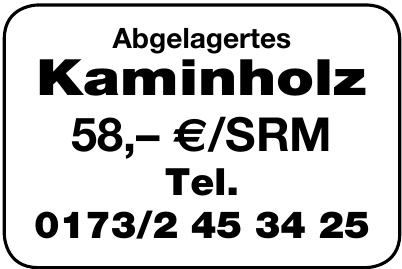 Abgelagertes Kaminholz