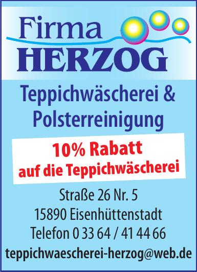Herzog Teppichwäscherei & Polsterreinigung