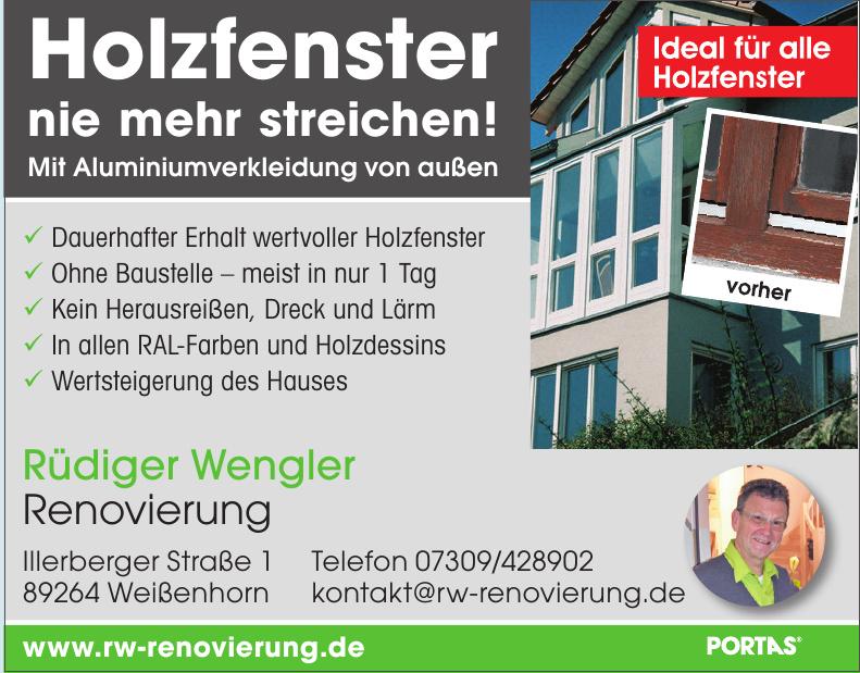 Rüdiger Wengler Renovierung