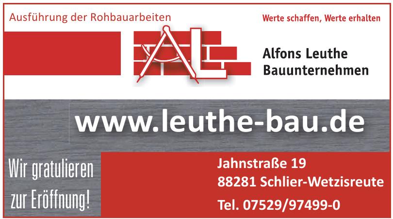 Alfons Leuthe Bauunternehmen
