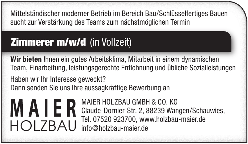 Maier Holzbau GmbH & Co. KG
