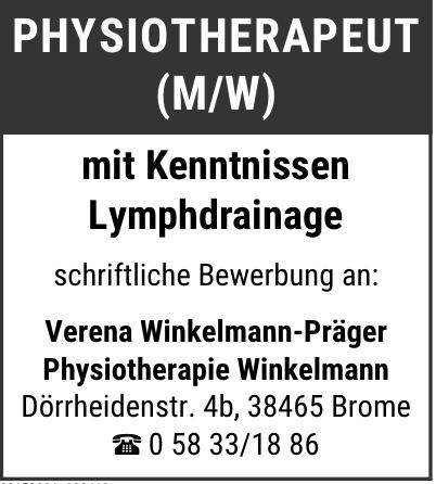 Verena Winkelmann-Präger Physiotherapie Winkelmann