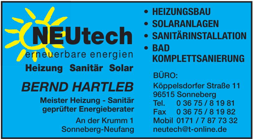 NEUtech erneuerbare energien Heizung Sanitär Solar