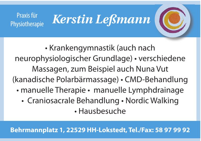 Praxis für Physiotherapie Kerstin Leßmann