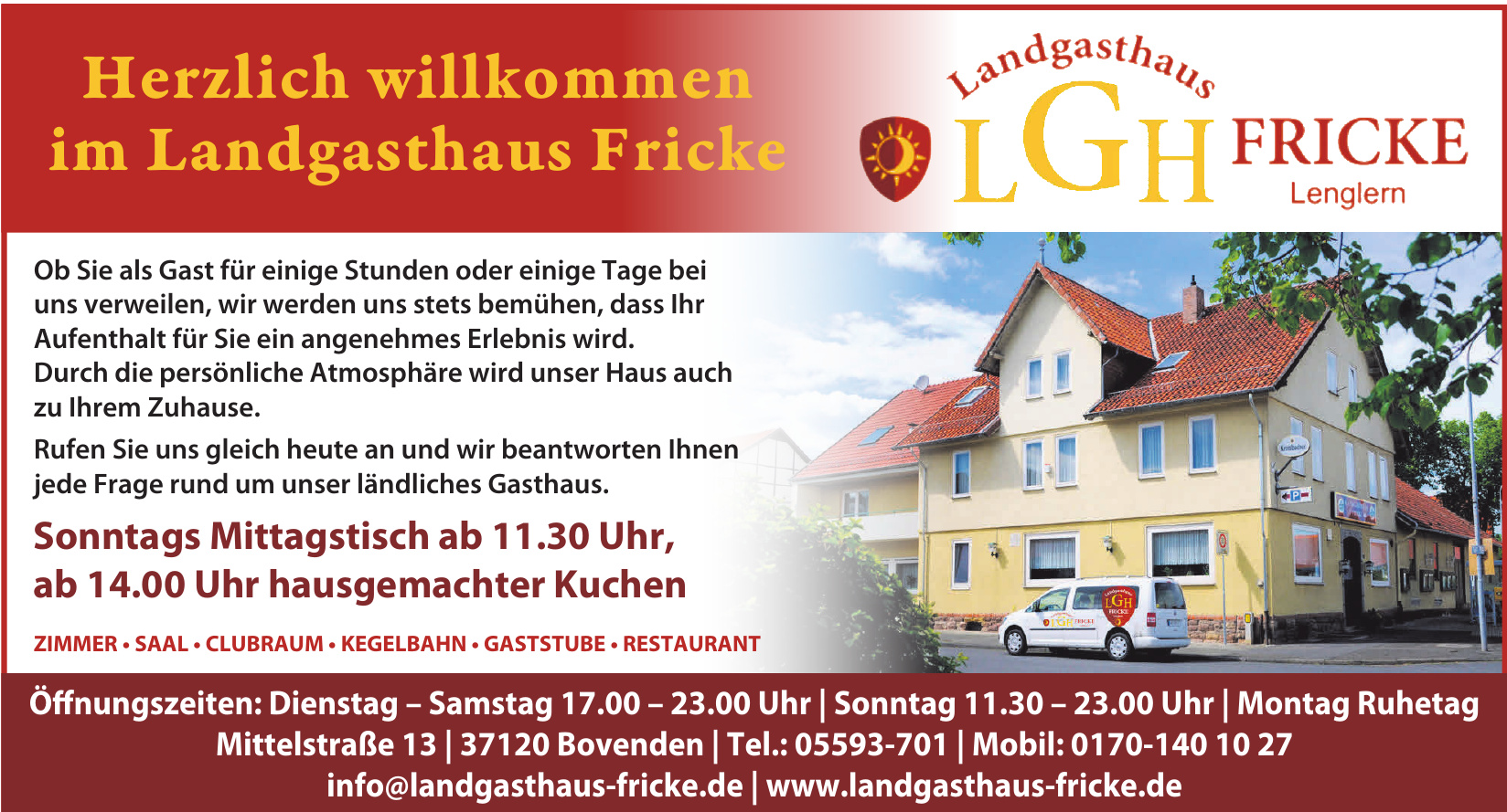 LGH Landgasthaus Fricke Lenglem
